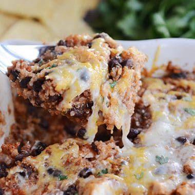 Quick and Easy Cheesy Black Bean Quinoa Bake - Mel's Kitchen Cafe