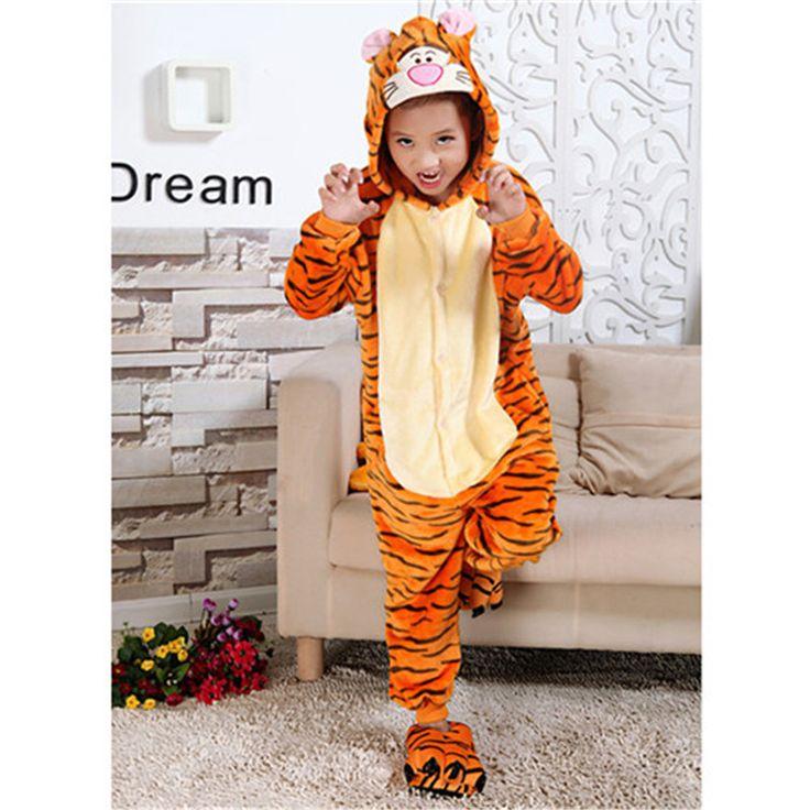 ==> [Free Shipping] Buy Best Children Cartoon Animal Hooded Pijamas Spring Autumn Baby Minion Totoro Stitch Cosplay Onesie Boy Girl Kids Sleepwear Nightwear Online with LOWEST Price | 32794762503