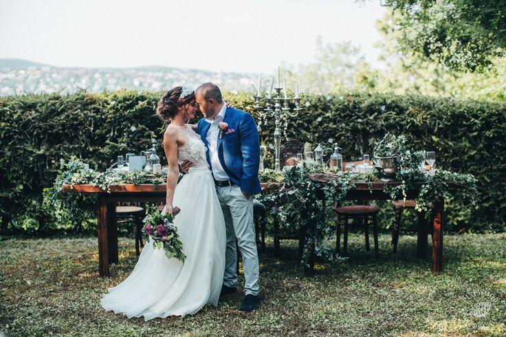 Fairytale garden gathering / Nora Sarman Bridal / Kata is wearing a custom made Nora Sarman wedding gown / photo Pinewood Weddings