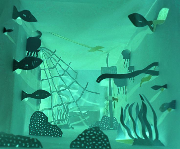 Under the sea paper cut outs