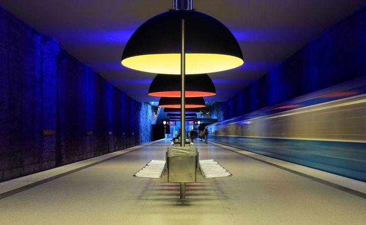 Munich subway station Westfriedhof