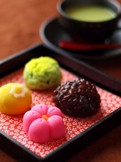 Japanese sweets and Matcha tea