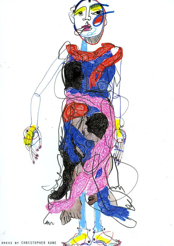 Image result for fashion illustration collage