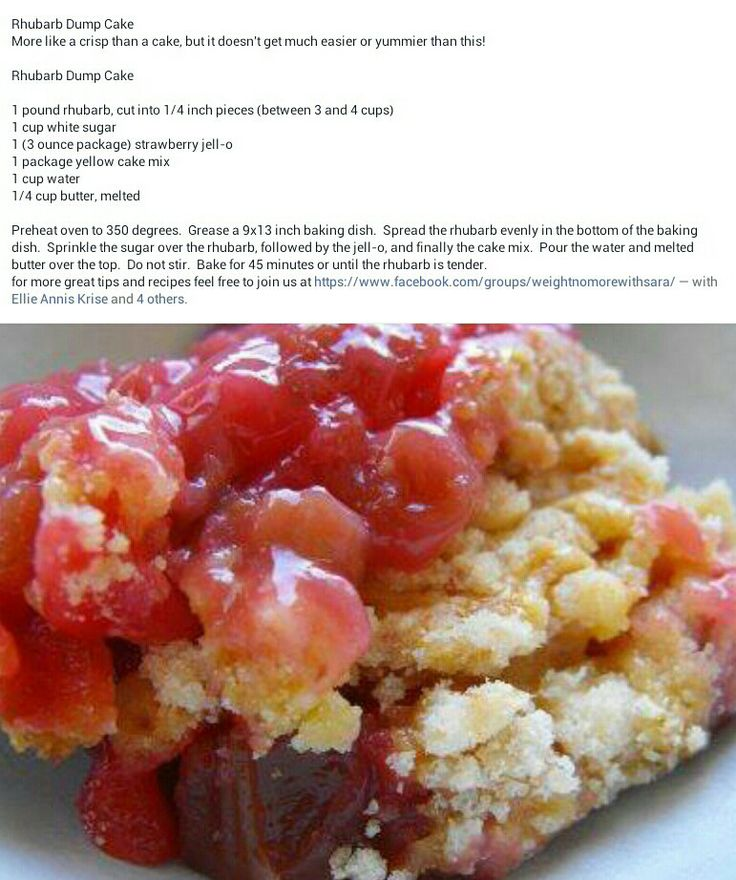 Rhubarb Dump Cake With Yellow Cake Mix And Oil