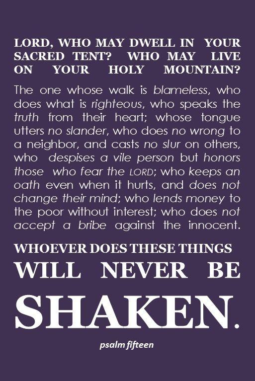 Scripture Screen Psalm 15