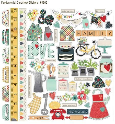 Simple Stories Homespun Collection Fundamentals stickers