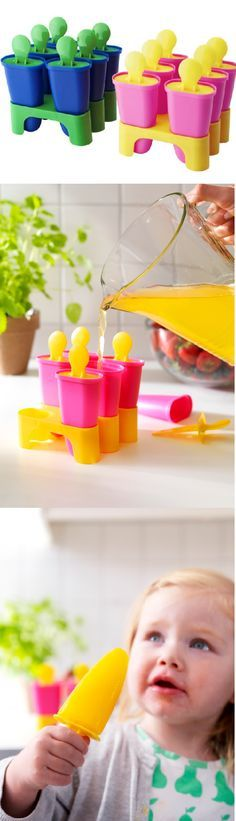 Pour your favorite fruit juice into CHOSIGT ice pop makers (BPA free) for a healthy and refreshing summer treat.