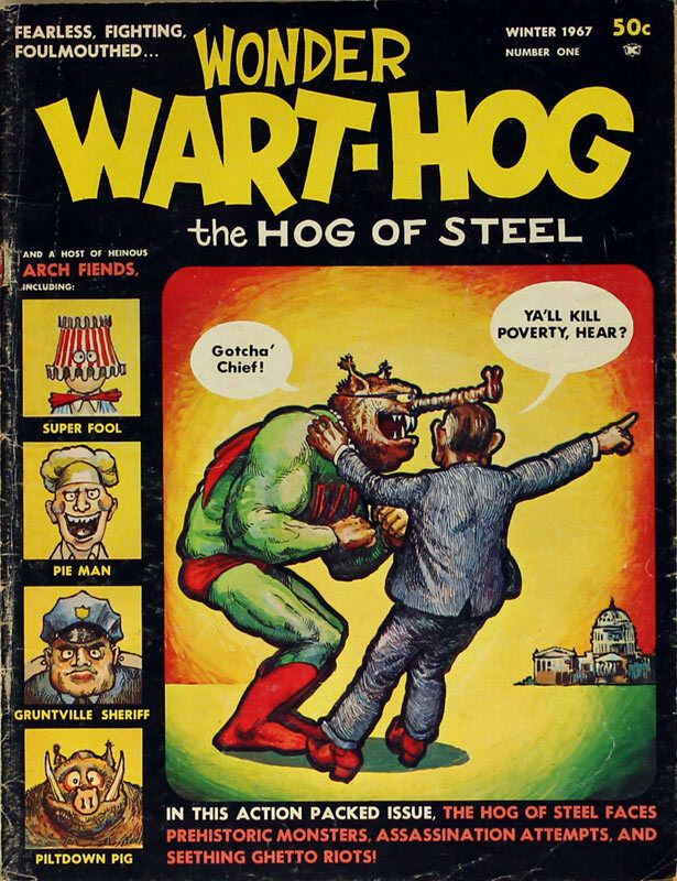 Wonder WartHog by Gilbert_Shelton (With images) Comic