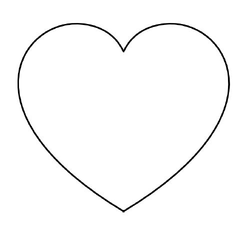 Do you need a large heart template that prints one per page? I've got you covered!