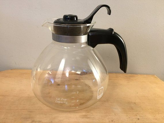 Vintage Medelco Stovetop Whistling 12 Cup Glass Tea Kettle Glass Tea Kettle Tea Kettle Kettle