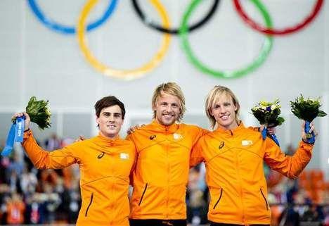Sweep nummer 2 bij de mannen - Op de 500 meter halen Jan Smeekens en Ronald Mulder zilver en brons. Michel Mulder pakt goud!