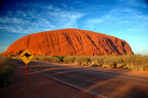 Watching the sunrise over Uluru (Ayres Rock) is worth getting up for.