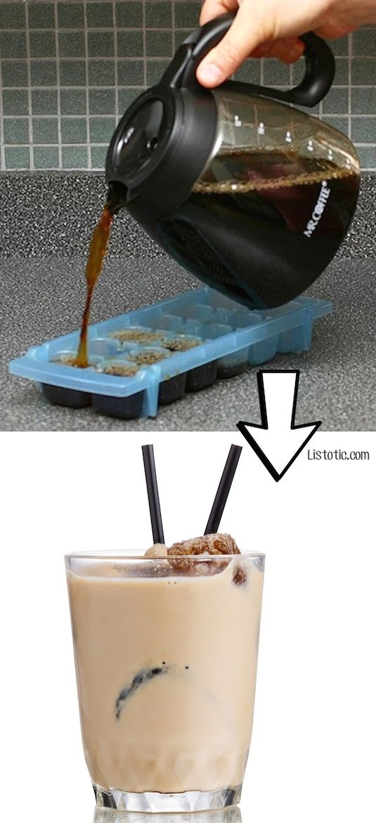 #11. Use leftover coffee to make coffee ice cubes! | 24 Creative Ways To Use Leftovers