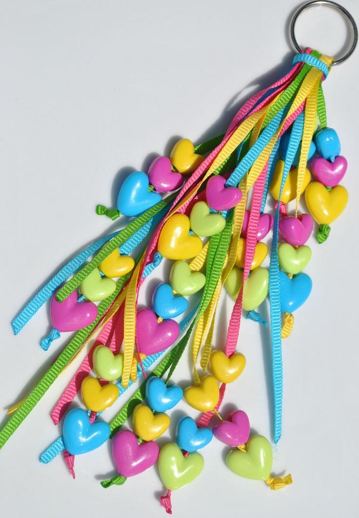 Summer Love Ribbon Keychain. $6.00, via Etsy.