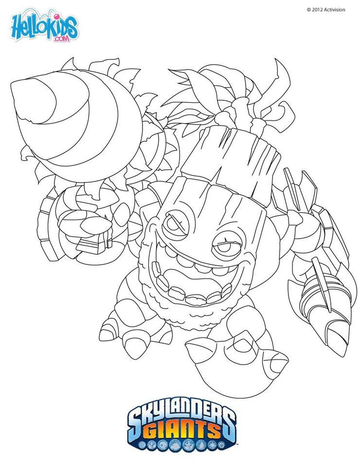 how To Draw Skylanders Zook | Skylanders Giants Zum Ausmalen Zook Druck Dir Deine | Coloring