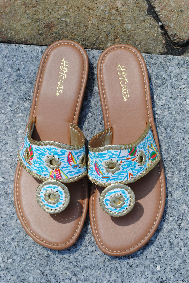 you gotta regatta lilly pulitzer inspired hot cakes sandals from  etsy com  shop