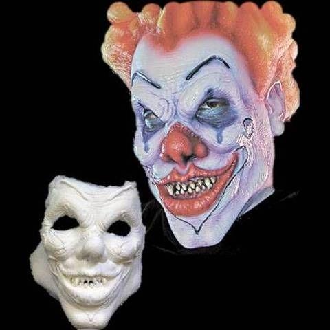evil clown mask halloween makeup