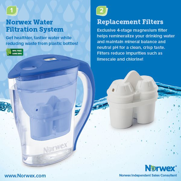 Norwex (1) Norwex Water Filtration System, (2) Replacement Filters. For Facebook parties, online events and marketing.