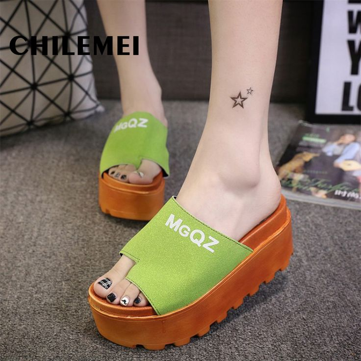 >> Click to Buy << Women Slides Trifle high heels Fashion Summer sping slipper PU Sandals Ladies Wedges Sandals Brand Flip Flops Summer Waterproof  #Affiliate