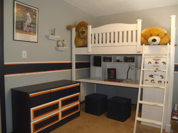 detroit tigers themed bedroom