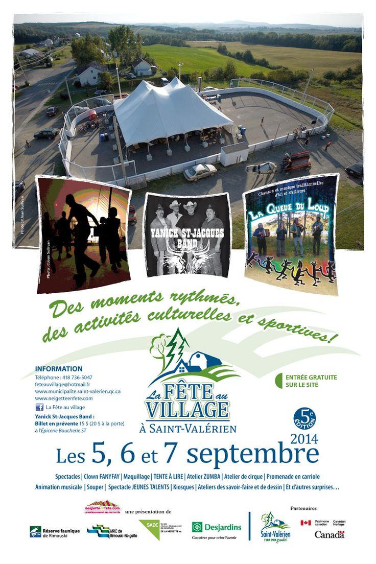 Fête au Village de Saint-Valérien, les 5, 6 et 7 septembre 2014.
