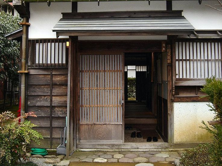 Small genkan with sliding door genkan are for Traditional house building