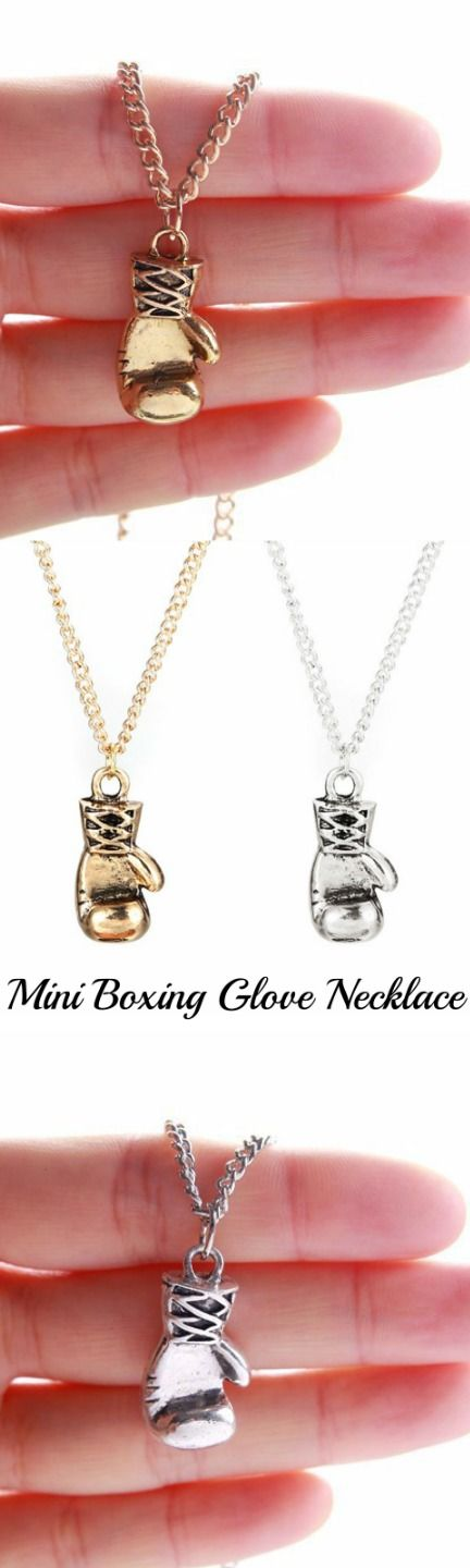 Mini Boxing Glove Necklace! Click The Image To Buy It Now or Tag Someone You Want To Buy This For.  #Boxing