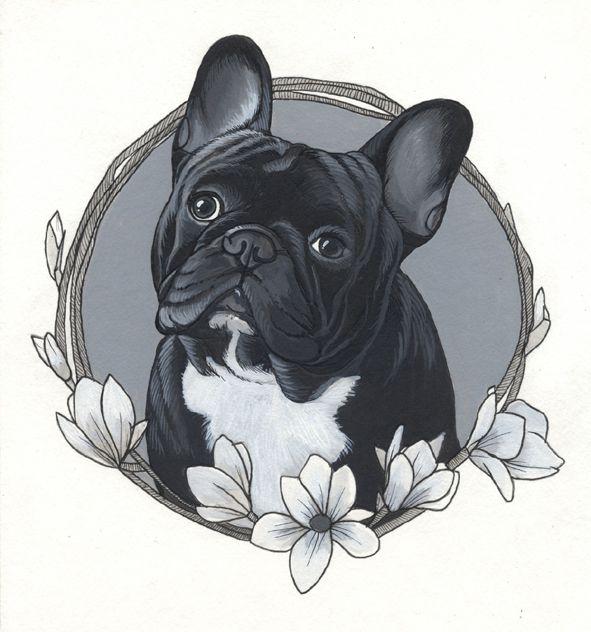 French Bulldog Tattoo Design By Jeroen Teunen.
