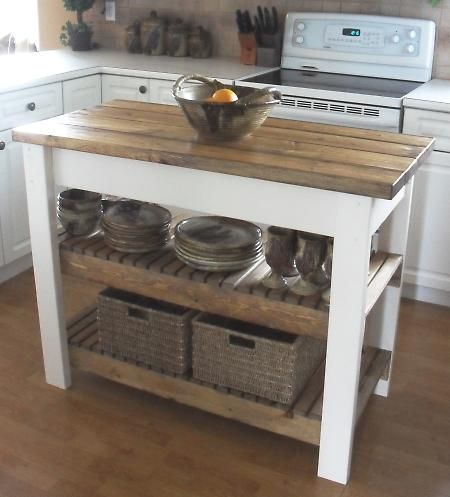 DIY Kitchen Island - lokks more like something for my dad to build for me rather than me messing with power tools but still cool!