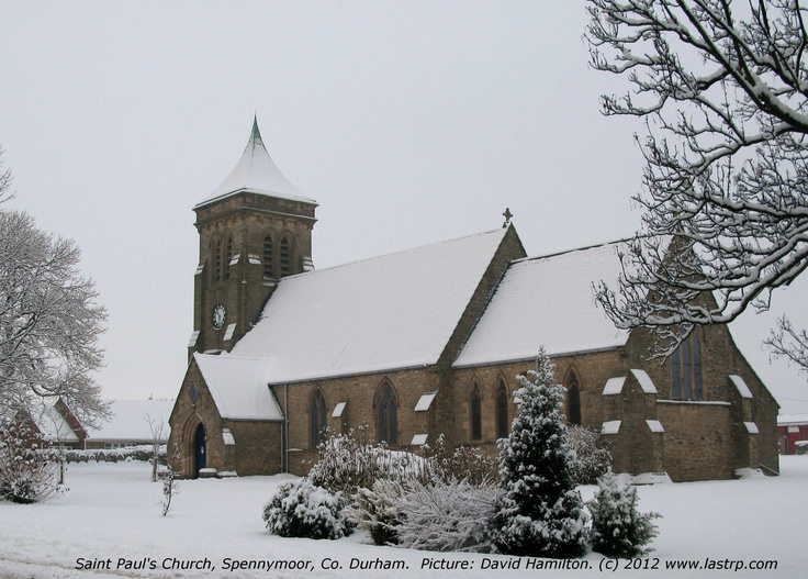 St Paul's church Spennymoor, Co. Durham with a dusting of snow.  Would this make a suitable cover for a Christmas Card?  I would welcome your thoughts.