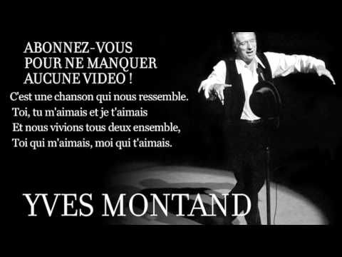 Les feuilles mortes - Yves Montand - paroles
