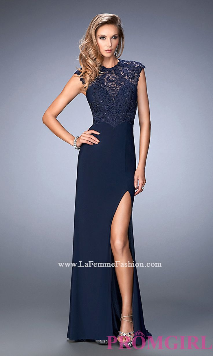 Long High Neck Prom Dress with a Sheer Back by Gigi Style: LF-22585