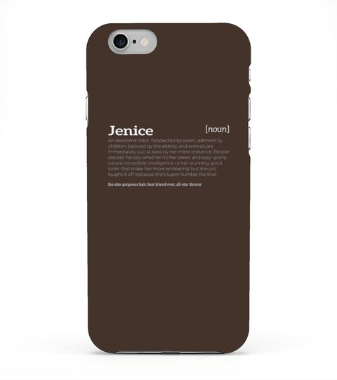 # Jenice Is An Awesome Chick - Funny Compliment T-shirt .  Jenice Is An Awesome Chick - Funny Compliment T-shirt