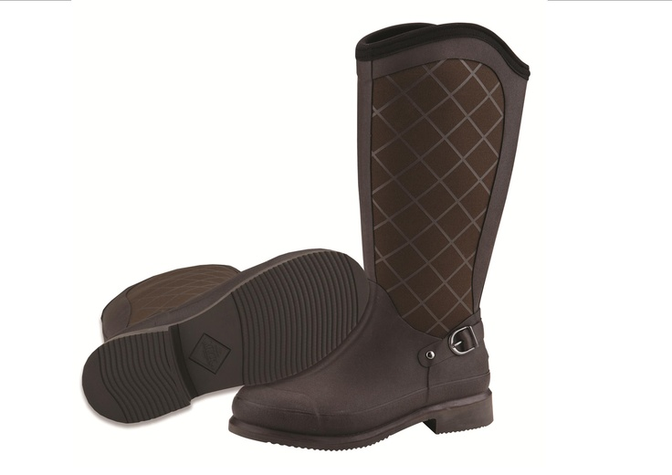 Pacy High Equestrian Inspired Muck Boot in Chocolate | Equestrian ...