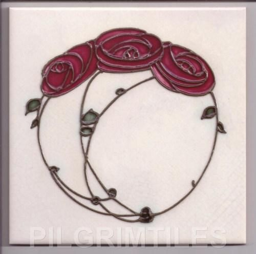 Gallery For > Mackintosh Rose Tile