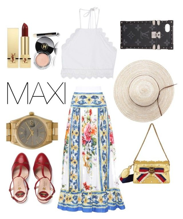 """TO THE MAX"" by egaemgyu on Polyvore featuring Dolce&Gabbana, Front Row Shop, Gucci, Rolex, Louis Vuitton, Yves Saint Laurent and Chanel"