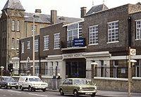 Front entrance of Hackney Hospital on Homerton High Street