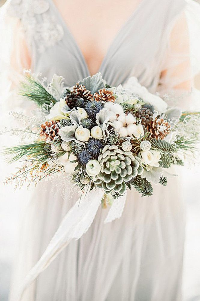 27 Stunning Winter Wedding Bouquets ❤ See more: http://www.weddingforward.com/winter-wedding-bouquets/ #weddings #bouquet