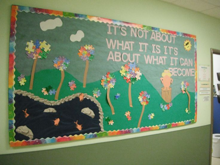 Children's Center of Monmouth County Dr. Suess Themed Autism Awareness Bulletin Board #AutismNJ #autismawareness #AutismNJAmbassador
