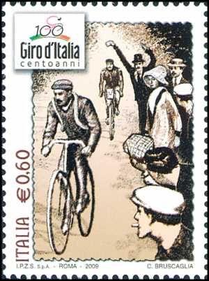 Italy Stamp 2009 - Lo sport italiano - Centenario dl Giro d'Italia