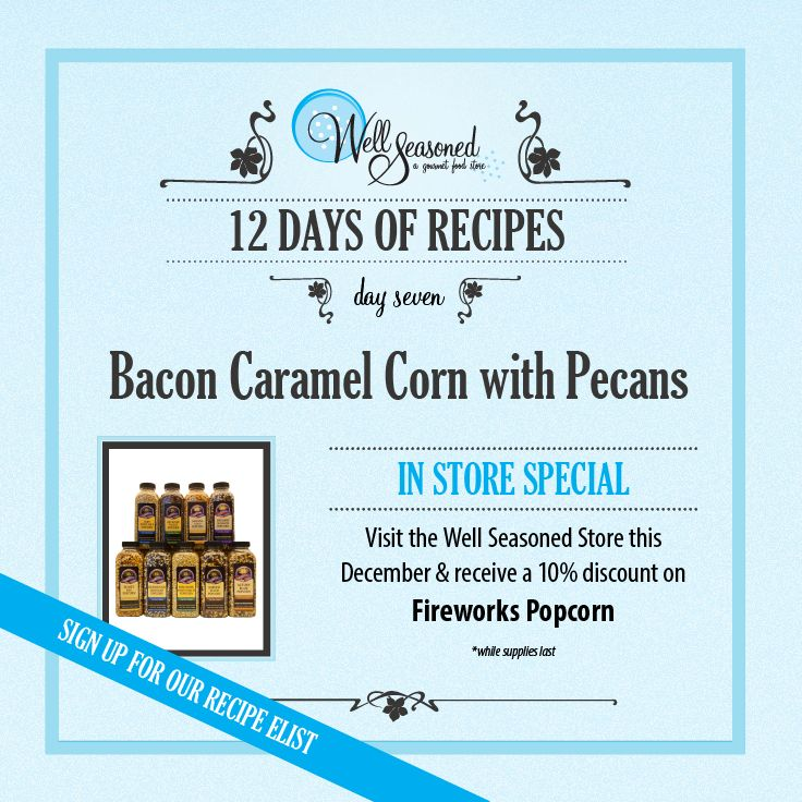 Day 7 of our #ws12days of Recipes went out today: Hot Chocolate Cake in a Jar ft. Dutch-process cocoa  While you're in store picking up some Fireworks Popcorn, pick up a Stovetop Popper for super popcorn-themed gift for the movie lover in your life! Picking up some Johnston's double-smoked bacon while you're there too!  Missed the recipe + feature gift idea? Sign up via any of our 12 days of recipes pages! #cookinggifts #stockingstuffers #gourmetgifts #popcorn #movielovers #nomnomnom #bacon