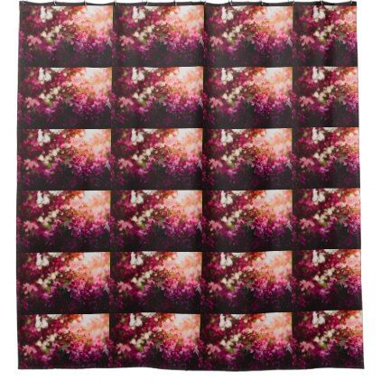 Women's trendy pink and white flower  curtain - flowers floral flower design unique style