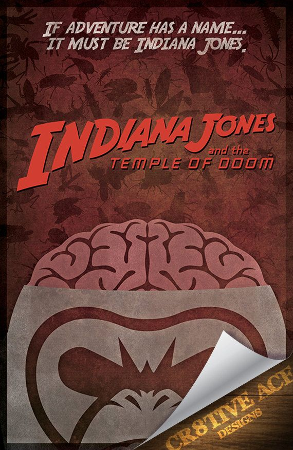 Indiana Jones and the Temple of Doom Movie Poster by Cr8tiveACE