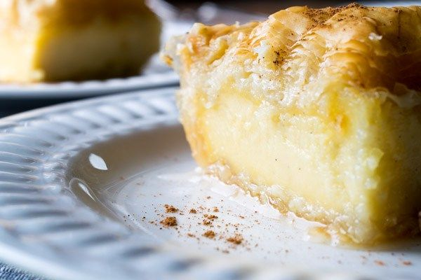 Traditional Greek Galaktoboureko (Creamy Custard Pie)
