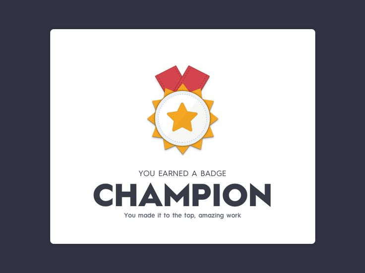 Champion badge illustration by pramod kabadi