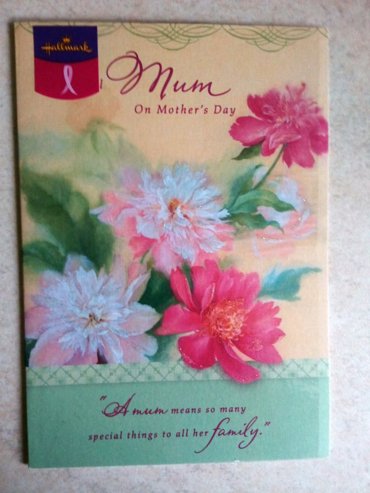 Mother s Day Card  For A Wonderful Mum    Hallmark Cards Breast Cancer Support