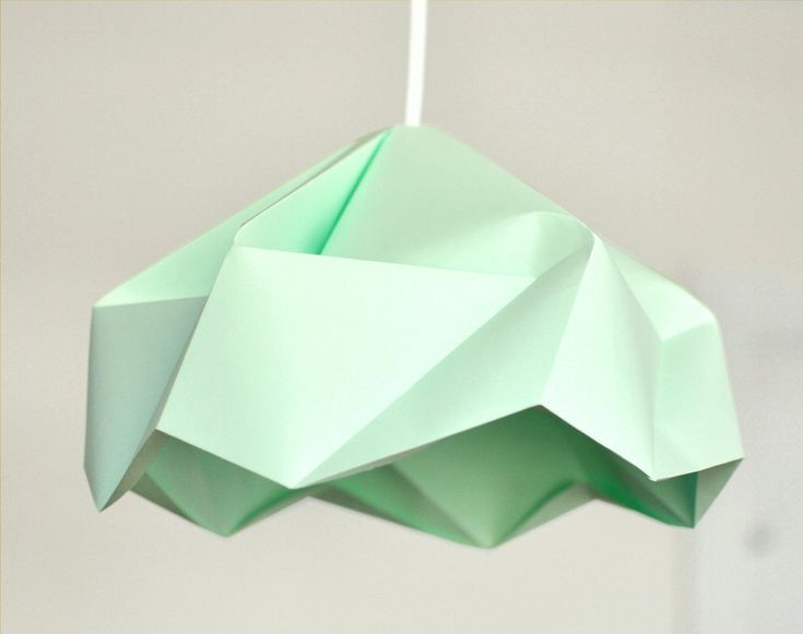 Best 25 paper lampshade ideas on pinterest asian lamp shades origami paper lamp shade lantern snowflake mint by fiberstore aloadofball Images