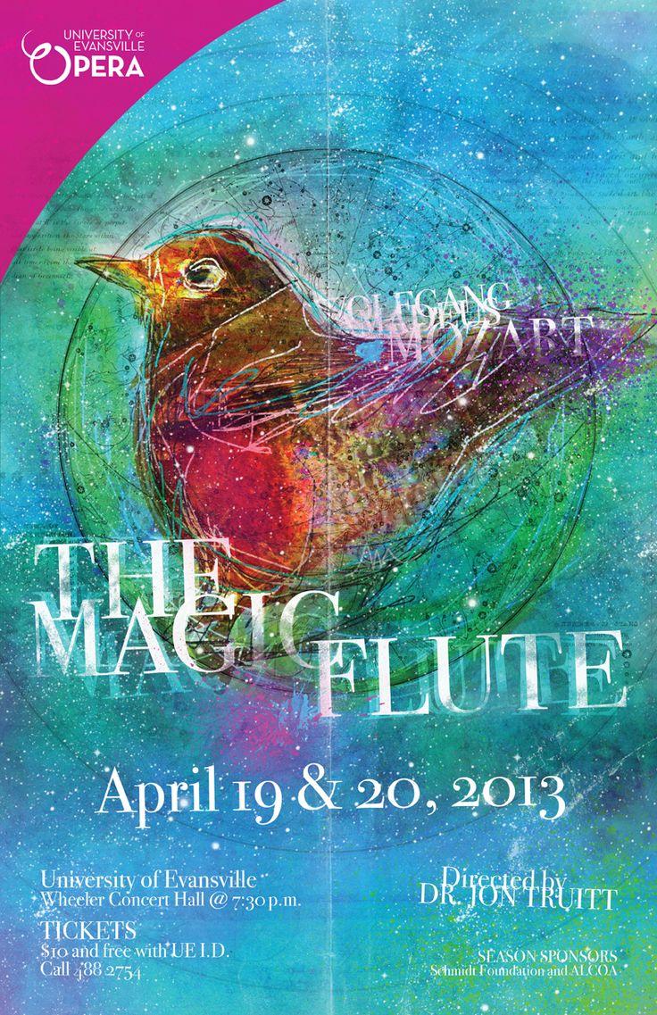 THE MAGIC FLUTE: University of Evansville Opera © 2013 #design #illustration #opera