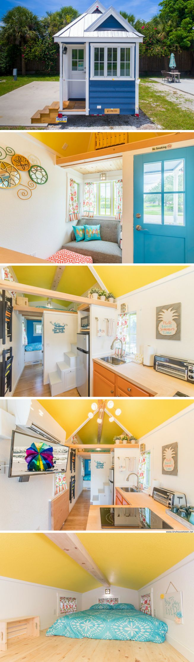 Eleanor: a beautiful blue tiny house for rent at the Tiny House Siesta resort in Florida