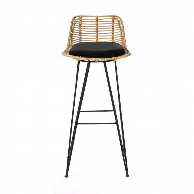 Capurgana Chaise De Bar Design En Rotin 75cm En 2020 Chaise De Bar Design Chaise Bar Tabouret De Bar